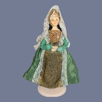Vintage Doll Catherine Of Aragon In Costume Sculpted