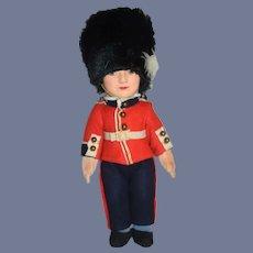 Vintage Felt Doll Beefeater Guard Yeoman Warders In Original Uniform Soldier