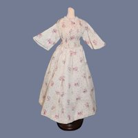 Sweet Vintage Doll Floral Doll Dress Cotton