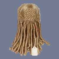 Vintage Doll Wig Fancy Ringlets Coiled Bun Braided