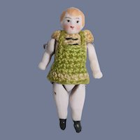 Antique All Bisque Miniature Doll Dollhouse Crochet Outfit