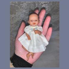 Wonderful Vintage Reborn New Born Miniature Petite Baby Doll