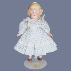 Old Doll Dress Peter Pan Collar Lace Trim Undergarments Doll included All Bisque