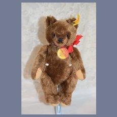 Vintage Teddy Bear Steiff Mohair Jointed 0206/26 Button Tag Chest Tag