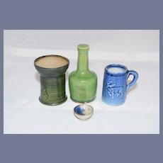 Wonderful Doll Miniature Pottery Set Vase Umbrella Stand Bottle Mug Dollhouse