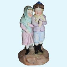 Antique Doll Figurine Bisque Porcelain Anchor Mark Sweet Victorian Children