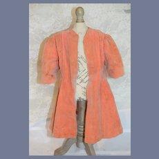 Vintage Pink Velvet Doll Coat 13.5 inches