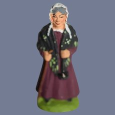 Old Miniature Old Lady Doll Figure Made in France 2.6 inches