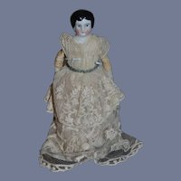 Antique China Head Doll Miniature Dollhouse Sweet