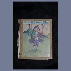 The Bellflower's Blue Miniature Doll Book Old Hardback Printed in England