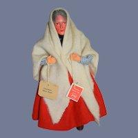 Vintage Doll Irish Traditional Dolls By Jay Connemara White Shawl