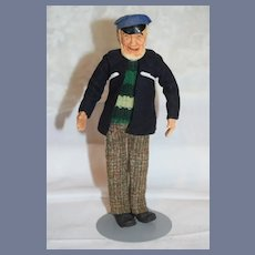 Old KimCraft Doll Seaman Captain Fisherman Character