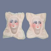 Two Old Boudoir Doll Face Mask