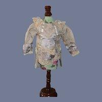 Vintage Artist Made Fashion Doll Pleated Center Lace Trim Satin Sash