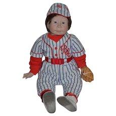 "Lee Middleton 1986 Bubba Chubbs Baseball Player Doll 21"""