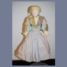 "Beautiful Antique Blonde China Head Doll 20"""