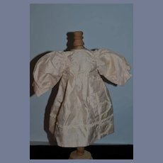"Vintage Artist Beautiful Light Pink Brushed Silk Doll Dress - 12"""