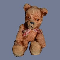 Old Miniature Teddy Bear Jointed Sweet Doll or Bear Companion