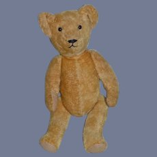 Old Teddy Bear Mohair Jointed Glass Eyes Sweet