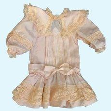 Wonderful Silk Doll Dress French Market Drop Waist Lace Trim French Market