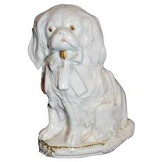 Old Porcelain Dog Hat Pin Holder Germany Marked