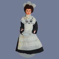 Vintage Artist Doll Miniature Dollhouse Lady Maid
