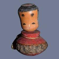 Vintage Japanese Wood Kokeshi Doll Carved