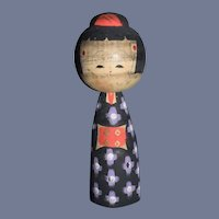 Vintage Japanese Wood Kokeshi Doll Signed