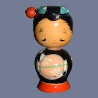 Vintage Japanese Wood Kokeshi Doll Cute