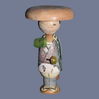 Vintage Japanese Wood Kokeshi Doll  3.75 inches
