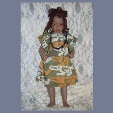 "Wonderful Doll Black Porcelain ""Binty"" Philip Heath Signed Dated Limited Edition"