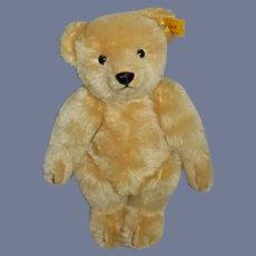 Vintage Teddy Bear Jointed Mohair Button Tag EAN 000355