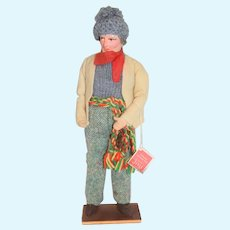 Vintage Handmade by Jay Ireland Man of Arran Collectors Character Doll 10.5 inches