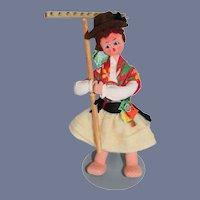 Vintage 1950's Mascotes Maria Helena Tagged Portugese Cloth Doll