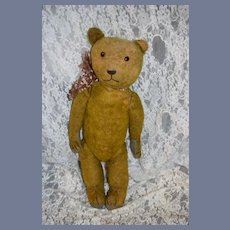Antique Mohair Teddy Bear Jointed Glass Eyes