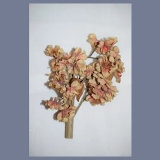 Vintage Small Bouquet Of Pink Flowers for Doll 5 inches