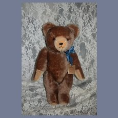 Vintage TEddy Bear Mohair Jointed Western Germany Grisly W/ Tag