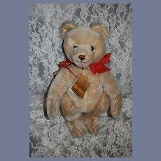 Vintage Teddy Bear Hermann Bear W/ Tags Signed Helen S. Mohair
