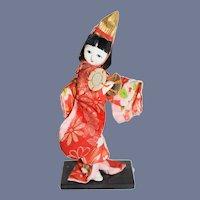 "Beautiful 6"" Ichamatsu Gofun Japanese Doll in Original Kimono"