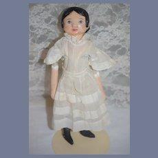 Vintage Doll Artist Sue Sizemore Oil Cloth Doll