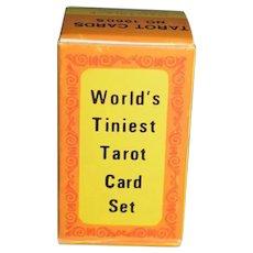"Vintage 1960's Merrimack Publishing World's Tiniest Tarot Cards Deck Set 1.5"""