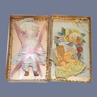 Antique Doll All Bisque W/ Trousseau Dollhouse Jointed