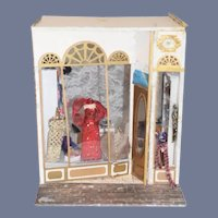 Artist Made Miniature Doll Shop Diorama Dollhouse Room Box