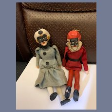 Old Doll Punch and Judy Puppets Wonderful Characters Wood  & Sculpture Original