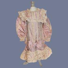 Vintage Sweet Doll Dress French Market Drop Waist Lace Artist