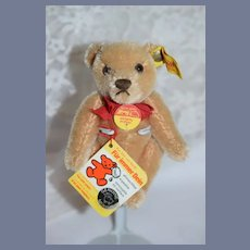 Vintage Steiff Teddy Bear Jointed Mohair Button Tag Chest Tag 0201/14