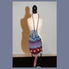 """Fashion Doll Colorful Draw String Purse 4.5"""""""