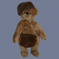 Vintage Teddy Bear Artist Bear Mary Kaye Lee Jointed Mohair Signed 1988