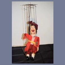 Old Walt Disney Captain Hook Doll Marionette Composition