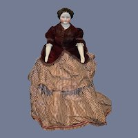Antique Doll China Head HUGE W/ Fab Clothes Tons of Antique Undergarments